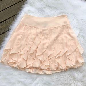 H&M Blush Pink Chiffon Petal Mini Skirt, Size 8